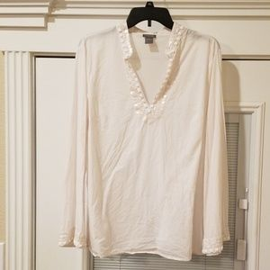 XL Ann Taylor white top
